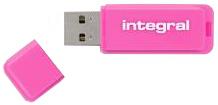 Pendrive (Pamięć USB) INTEGRAL 16 GB USB 2.0 Różowy