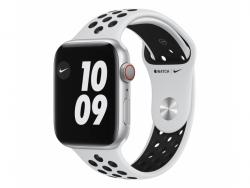 APPLE Watch Nike Series 6 GPS + Cellular 44mm Silver Aluminium Case with Pure Platinum/Black Nike Sport Band - Regular