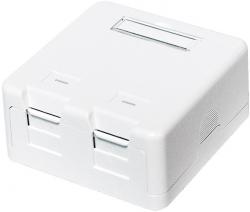 LOGILINK- Puszka natynkowa Keystone 2 porty UTP, biały