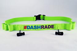 Pasek na numer startowy #DashRade zielony