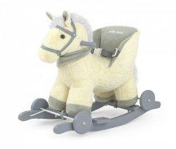 Koń Konik na biegunach Polly Beżowy #B1