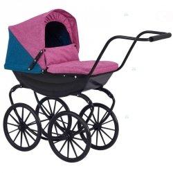 Wózek dla lalek Retro Gondola Pościel #D1