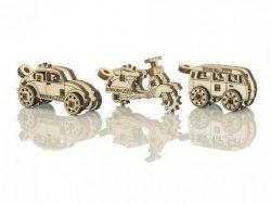 Drewniane puzzle mechaniczne 3D  - Gadżety Samochody #T1