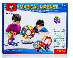 Kolorowe klocki magnetyczne MAGICAL MAGNET 71 SZT. #E1