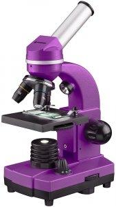 MikroskopBresser Junior Biolux SEL 40–1600x, purpurowy