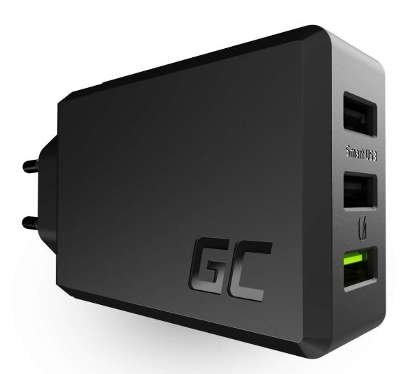 Ładowarka GREEN CELL CHARGC03(3x USB 3.02400mA5V)