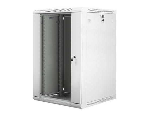Szafa instalacyjna wisząca 19 18U 600X600mm szara (drzwi szklane)