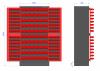 Metalowa szafa warsztatowa z pojemnikami M-3-01-01