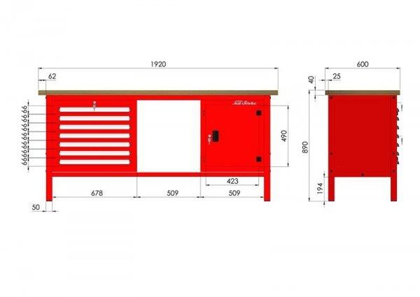 P-3-154-01 Stół warsztatowy