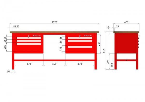 P-3-081-01 Stół warsztatowy