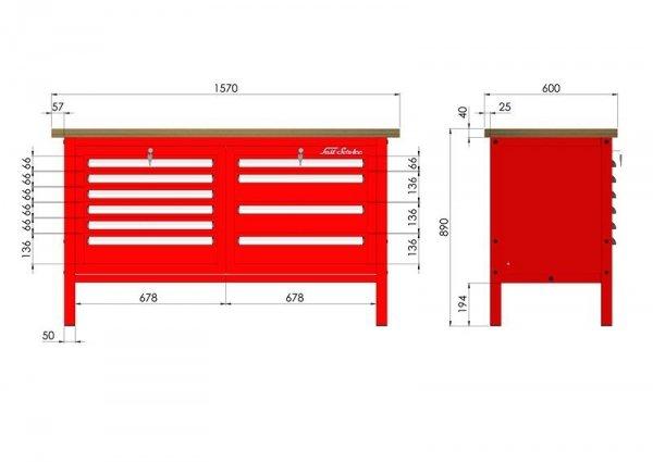P-3-063-01 Stół warsztatowy