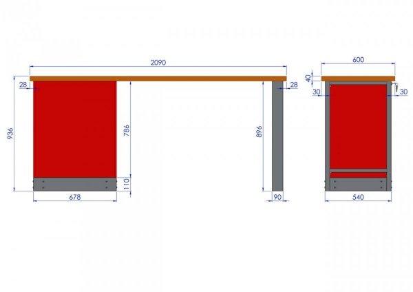 Stół warsztatowy – T-22-01