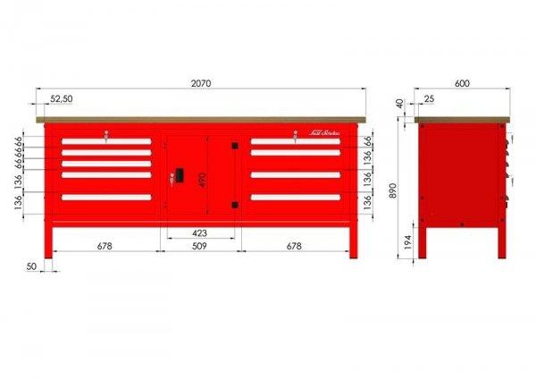 P-3-161-01 Stół warsztatowy