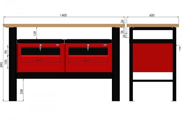 Stół warsztatowy N-3-10-01
