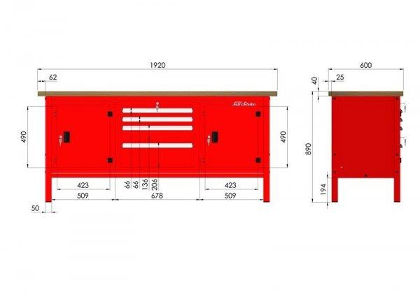P-3-176-01 Stół warsztatowy