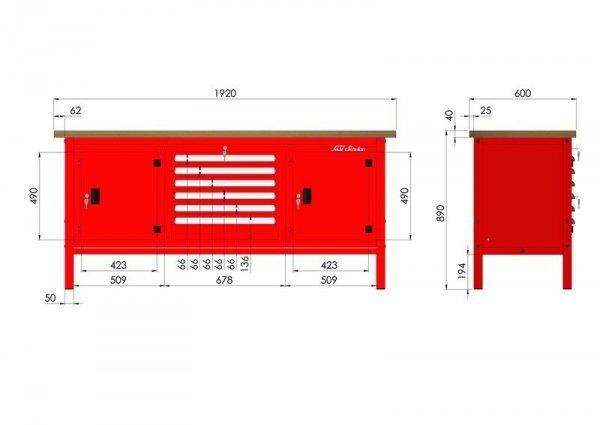 P-3-173-01 Stół warsztatowy