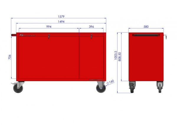 Wózek warsztatowy MEGA z 13 szufladami PM-212-22