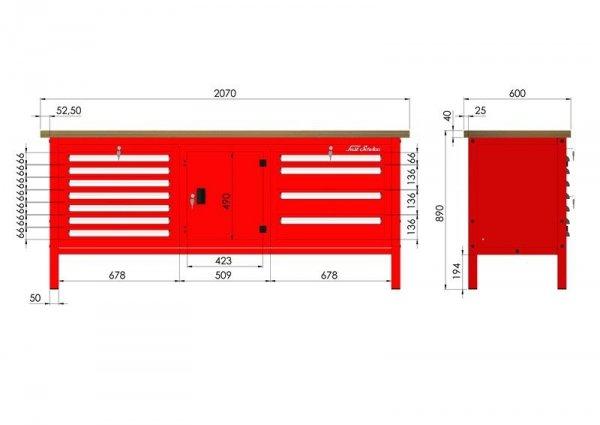 P-3-164-01 Stół warsztatowy