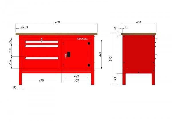 P-3-075-01 Stół warsztatowy