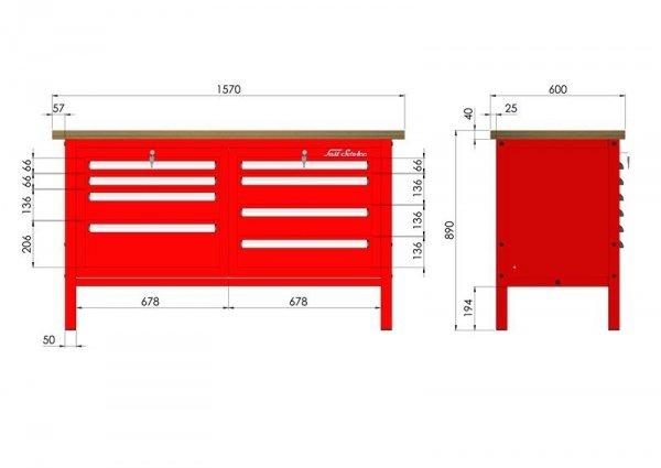 P-3-066-01 Stół warsztatowy