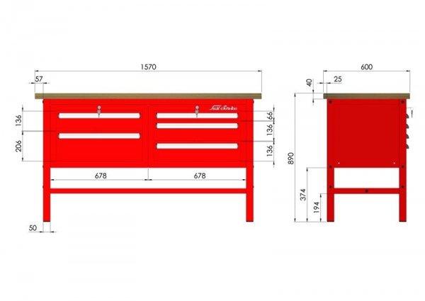 P-3-033-01 Stół warsztatowy