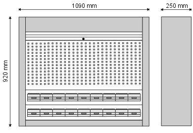gablota warsztatowa z pojemnikami wymiary