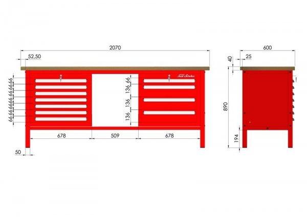 P-3-134-01 Stół warsztatowy