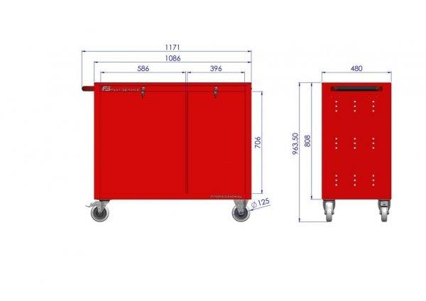 Wózek narzędziowy TRUCK z 19 szufladami PT-210-11