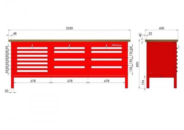 P-3-144-01 Stół warsztatowy