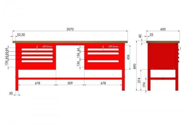 P-3-082-01 Stół warsztatowy