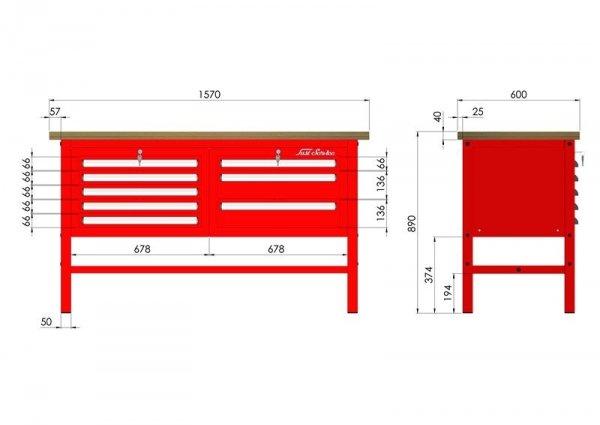 P-3-034-01 Stół warsztatowy