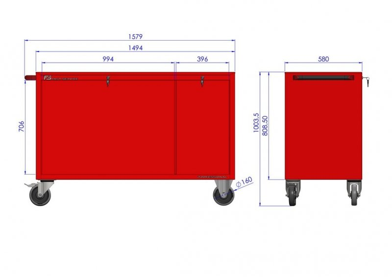 Wózek narzędziowy MEGA z 15 szufladami PM-210-21