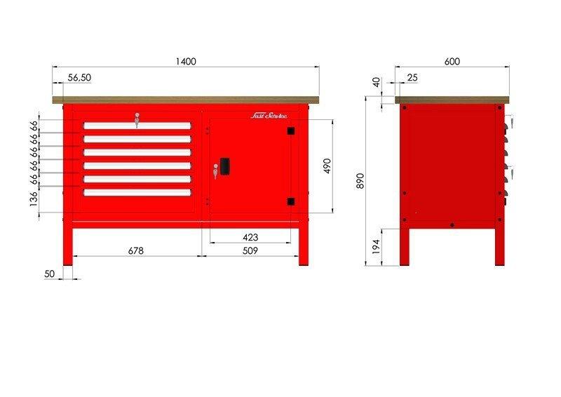 P-3-073-01 Stół warsztatowy