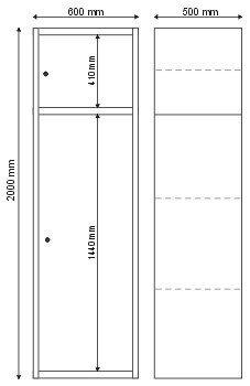 Szafa kartotekowa 2 komorowa S-1-03-00