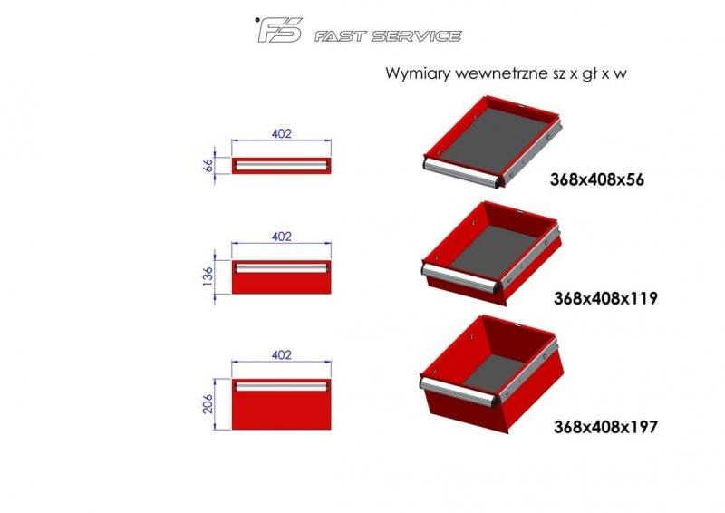 Wózek warsztatowy MEGA z 13 szufladami PM-212-21