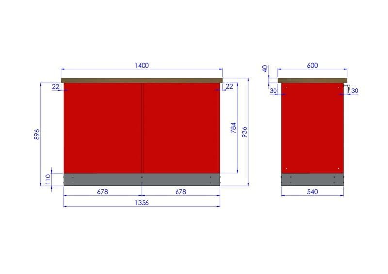 Stół warsztatowy – TK-15-18-01