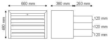 Nadstawka narzędziowa z 3 szufladami P-1-02-02