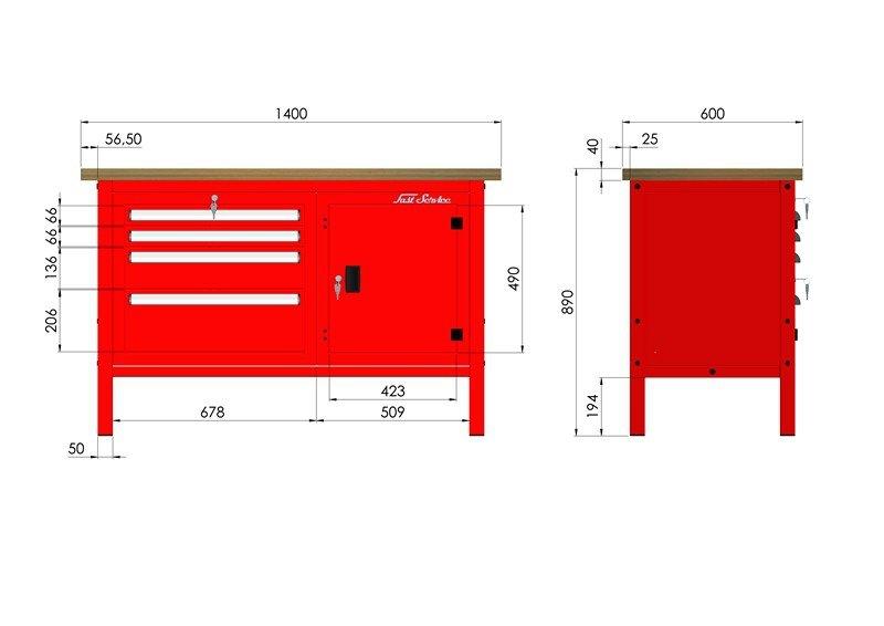 P-3-076-01 Stół warsztatowy