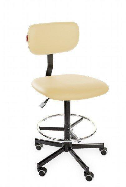 Krzesło obrotowe wysokie Black Eco H+ RING RKW-27