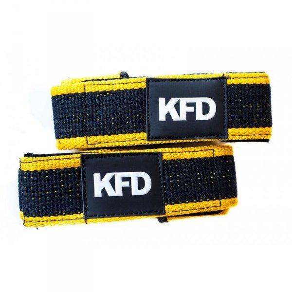 KFD paski usztywniające do martwych ciągów kolor żółty