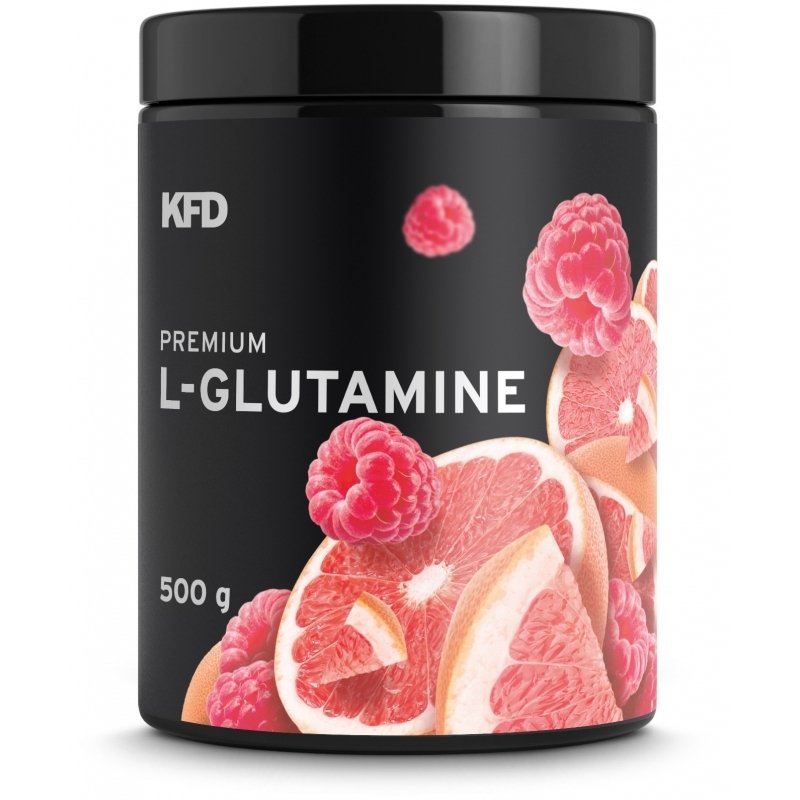 KFD Premium L- Glutamine 500g smak malinowo-grejpfrutowy