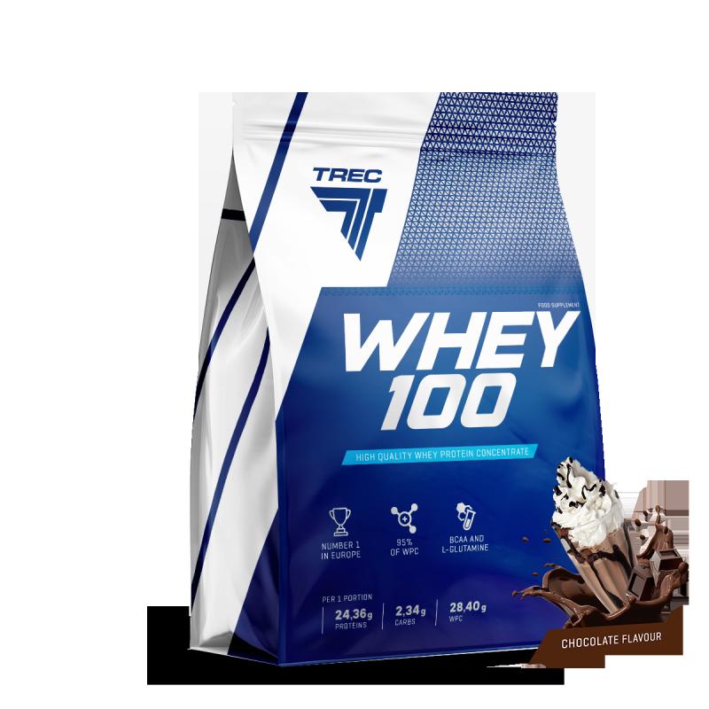 Trec Whey 100 900g białko czekolada