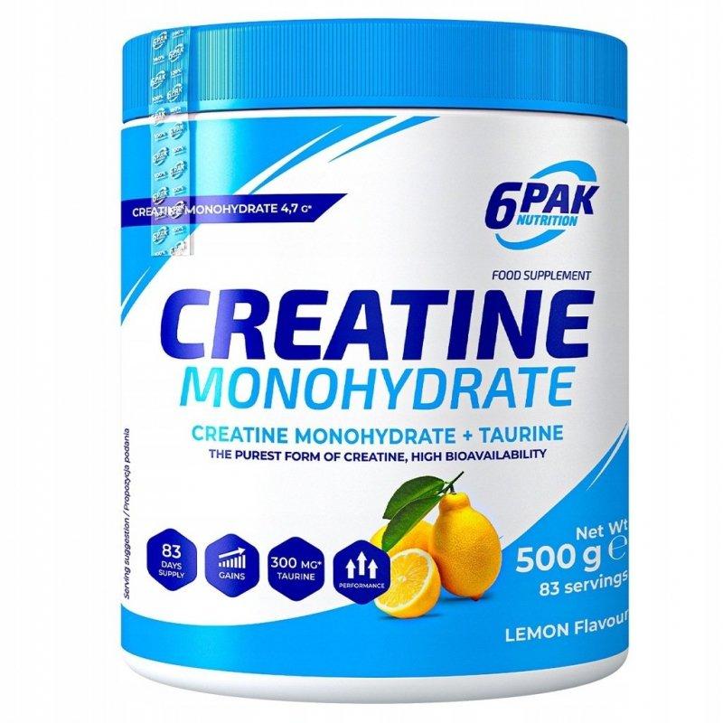 Kreatyna 6PAK Creatine Monohydrate 500g cytryna
