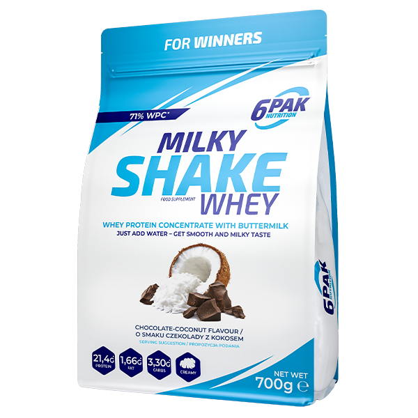 6PAK Milky Shake Whey 700g Coconut-Chocolate