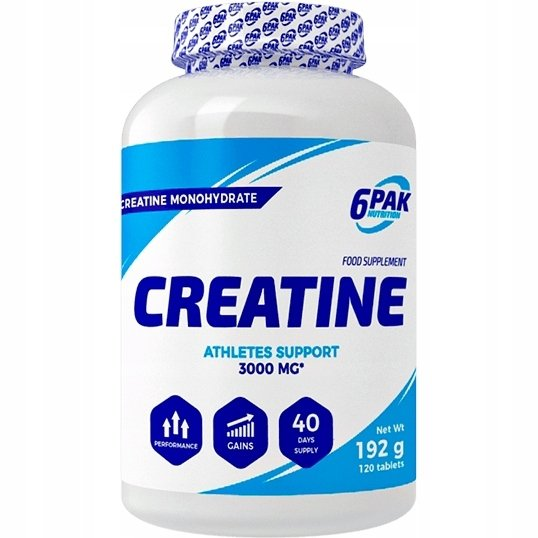 6PAK Creatine Monohydrate - 120 tab.