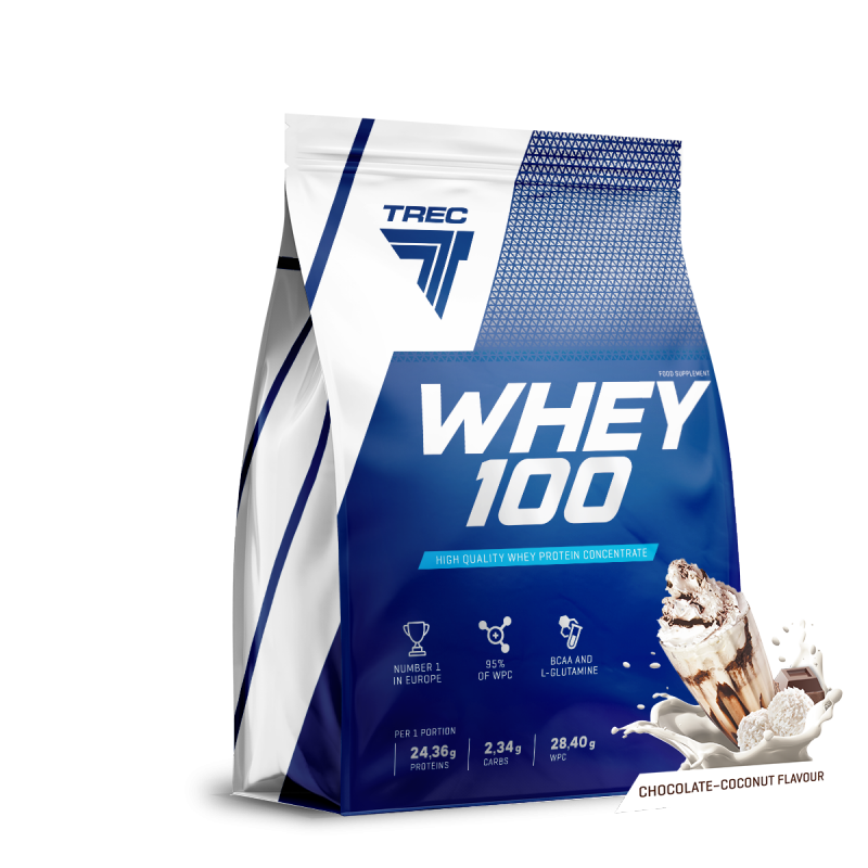 Trec Whey 100 900g białko Chocolate Coconut