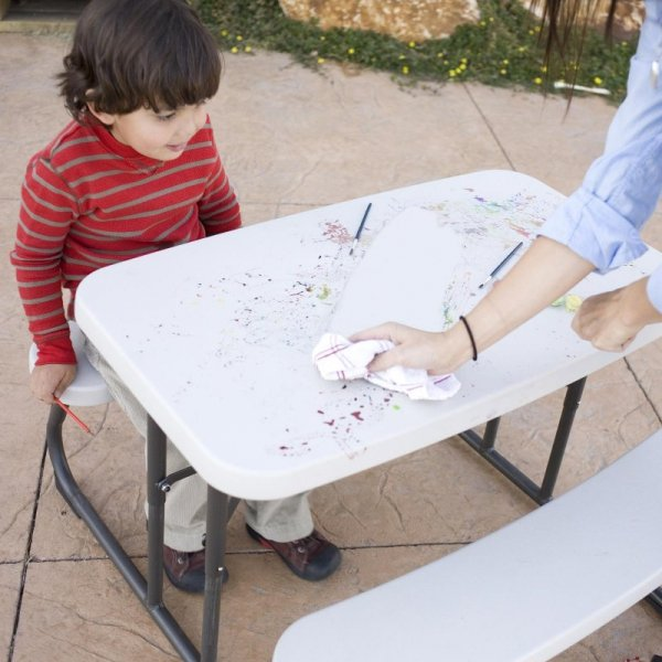 Stół piknikowy dla dzieci składany 83x48 cm (migdałowy) 280094