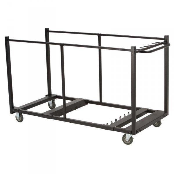 Wózek na 8 stołów z duzymi kółkami obrotowymi (czarny) 80193