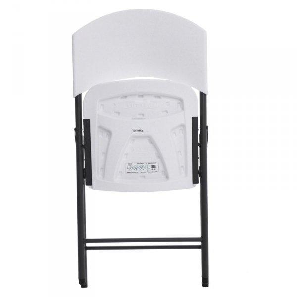 LIFETIME Półkomercyjne krzesło składane (biały granit) 2810