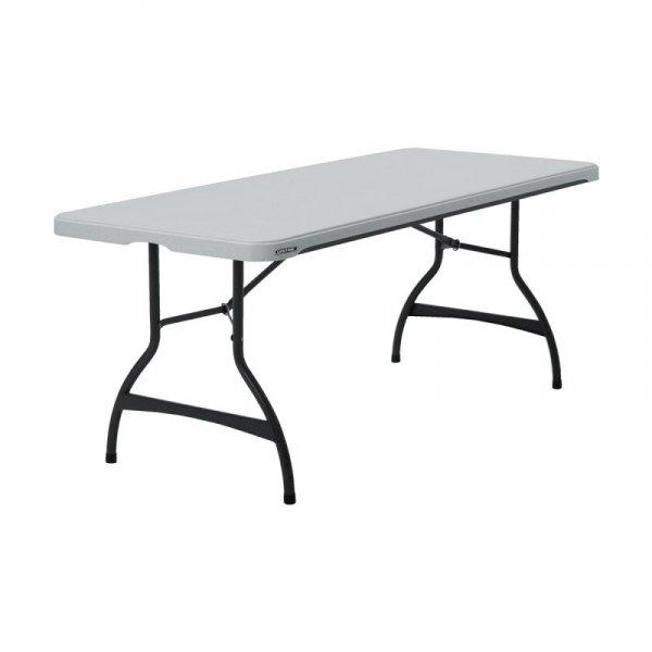 Komercyjny stół składany do piętrowania 183 cm (biały granit) 80272